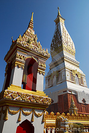 Free Phra That Phanom Chedi And Belfry Stock Image - 12515571