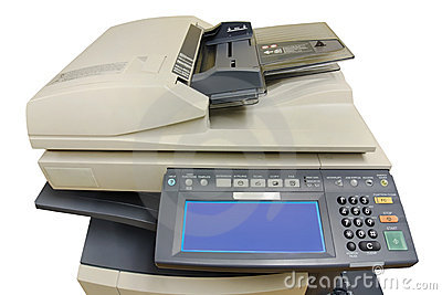 Phtocopier front view