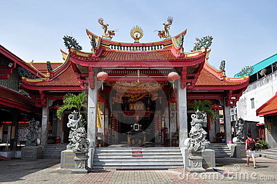 Phuket, Thailand: Chinese Temple Editorial Image
