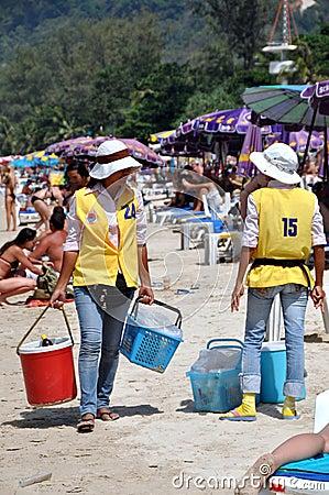 Phuket, Thailand: Food Vendors on Beach Editorial Photography