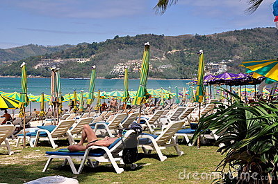 Phuket, Thailand: Idyllic Patong Beach Editorial Stock Photo