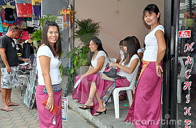 Phuket, Thailand: Massage Women Editorial Image