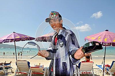Phuket, Thailand: Vendor Selling Sunglasses Editorial Photo