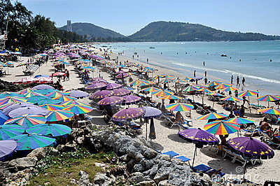 Phuket, Thailand: View of Patong Beach Editorial Photography