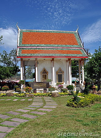 Phuket, Thailand:  Wat Chalong Temple Editorial Photography