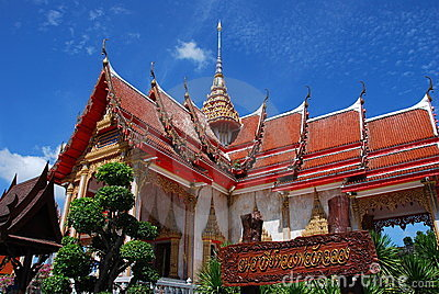 Phuket, Thailand: Wat Chalong Ubosot Editorial Photography