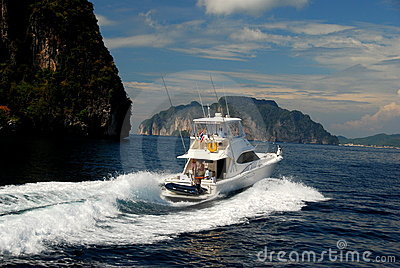 Phuket, Thailand: Yacht on Andaman Sea Editorial Photography