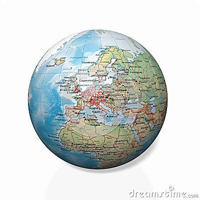 Physical globe