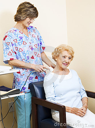 Physical Therapist Using Ultrasound