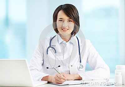 Physician at workplace
