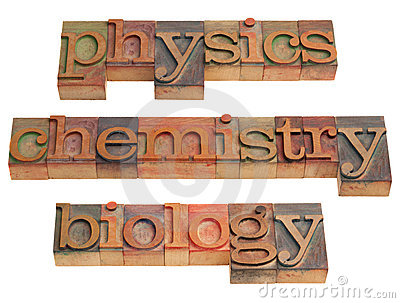 Physics, chemistry and biology