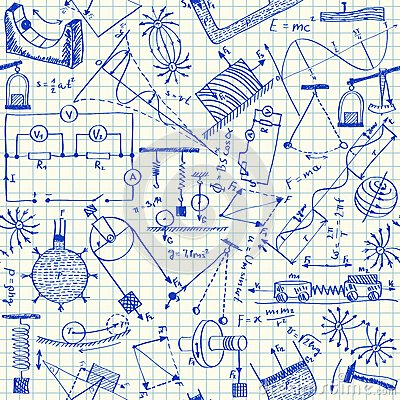 Free Physics Doodles Seamless Pattern Stock Photography - 30554142