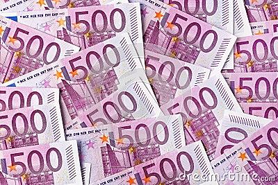 Pięćset euro notatek