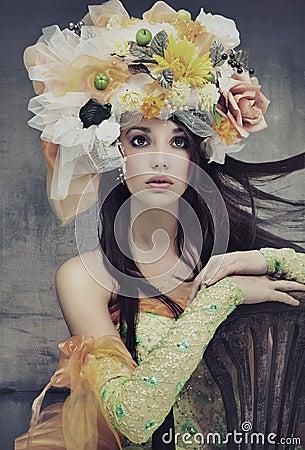 Piękna brunetki