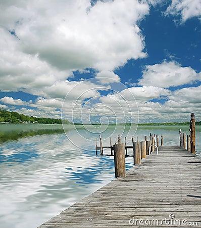 Piękne jezioro krajobrazu
