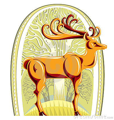 Piękni duży jeleni rogi