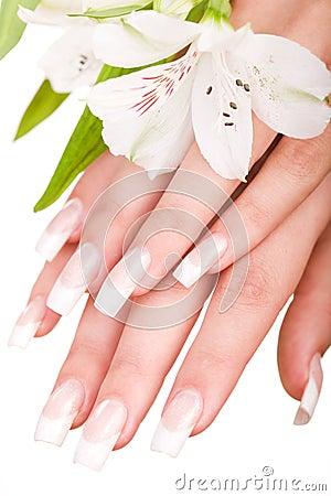 Piękni gwoździe i palce