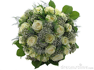 Piękny bukiet ślubny odosobnione white