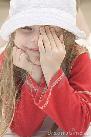 Piękny dziewczyny kapeluszu ii portret