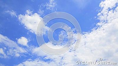 Piękny niebieskie niebo Chmurnieje Cloudscape time lapse tło 4K Dan Ultra zbiory