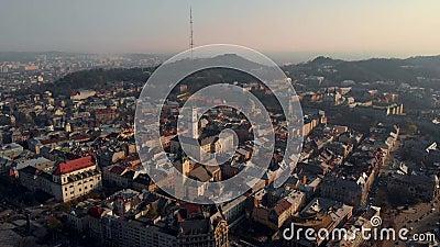 Piękny panoramiczny widok kolorowych budynków zdjęcie wideo