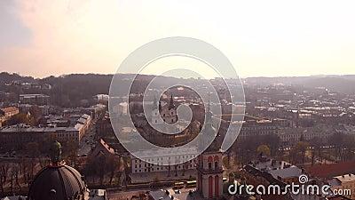Piękny panoramiczny widok kolorowych budynków zbiory wideo