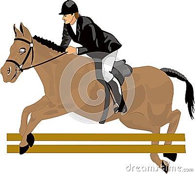 Piękny rysunkowy koń wyścigowy