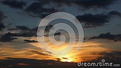 Piękny zachód słońca w czasie Ultra HD o rozdzielczości 4K 3840x2160 zbiory