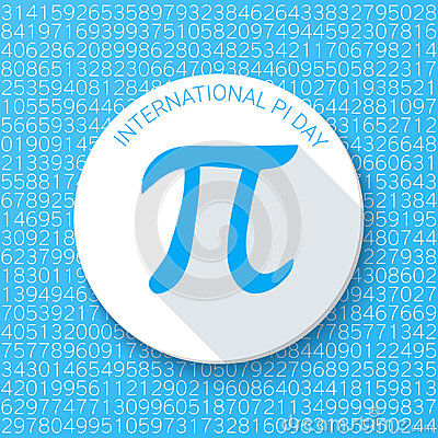 Free Pi Sign On A Blue Background. Mathematical Constant, Irrational Number. Abstract Vector Illustration For A Pi Day. Stock Photo - 67658070