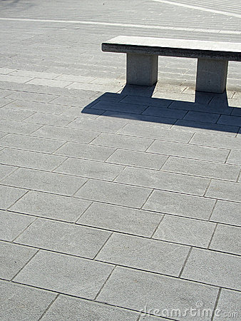 Pi sign shaped bench