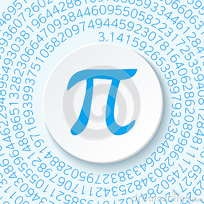 Free Pi Sign With A Shadow On A Blue Background. Mathematical Constant, Irrational Complex Number, Greek Letter. Stock Photography - 84414912