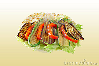 Piadina with vegetables