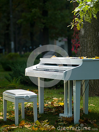 Pianino w parku