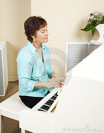 Pianist Playing Church Hymns