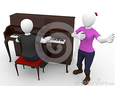 Pianist And Singer Stock Image - Image: 25851421