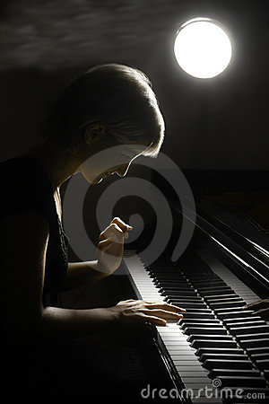 Pianistmusikerklavier-Musikspielen.