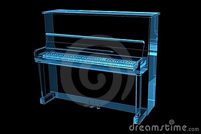 Piano 3D X-Ray Blue