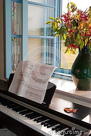 Free Piano At Open Window Royalty Free Stock Photos - 44324698