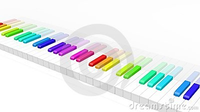 Piano coloré