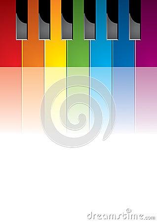 Piano coloured keys