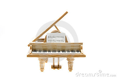 Piano front view