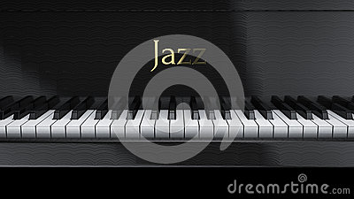 Piano jazz Stock Photo