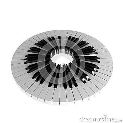 Piano Key Circle