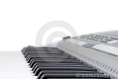 Piano key isolated