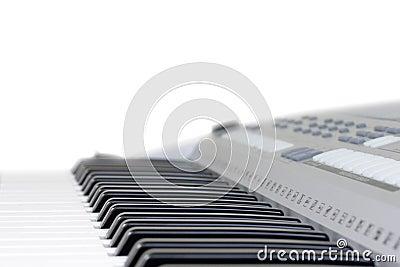 Piano key isolated