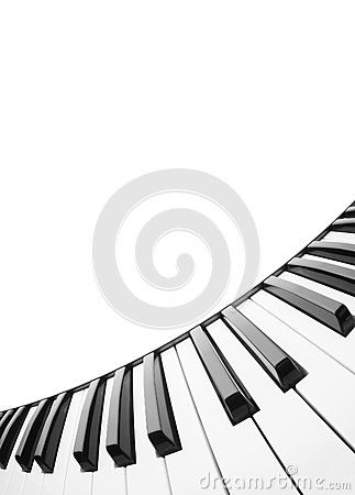 Piano keyboard. Abstract background