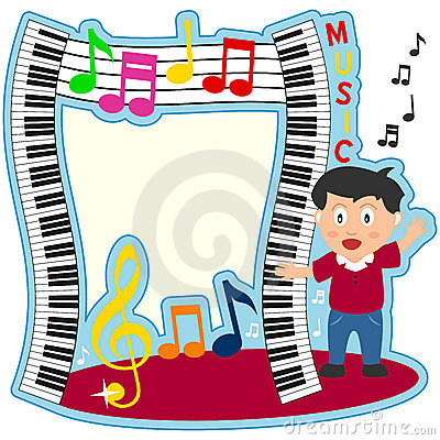 Piano Keyboard Boy Photo Frame