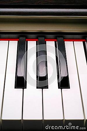 Piano keyboard closeup (2)