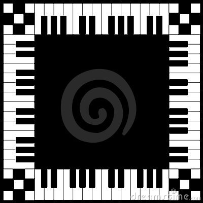 Piano Keyboard Frame