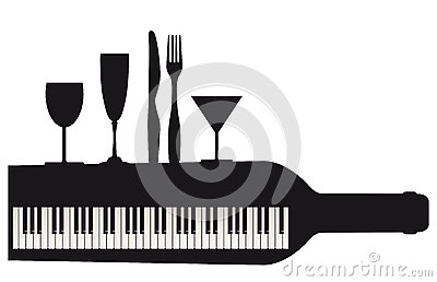 Piano keyboard and party